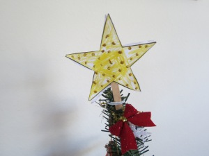 Star on mini Christmas tree