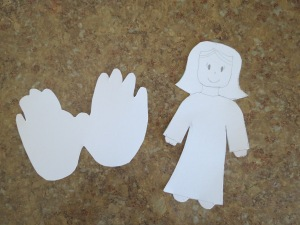 Angel pattern and hand traced wings
