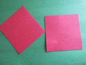 4 x 4 in. squares