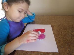 Estefania adding glitter